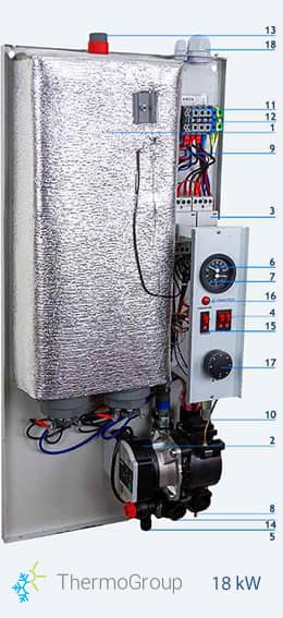 <small> Elektrische CV-ketel </small> 18 kW